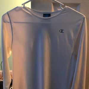 white champion athletic shirt